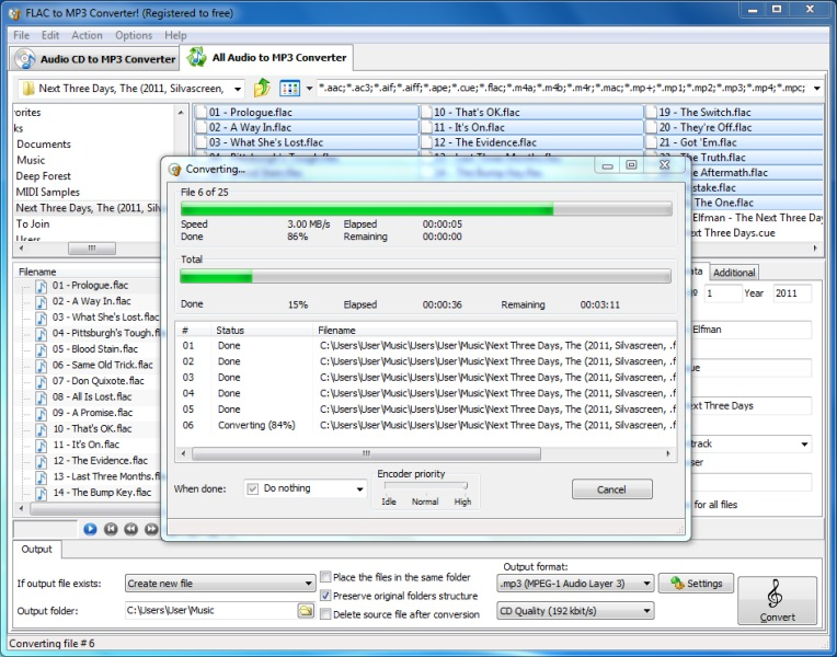 free software converter audio cd to mp3