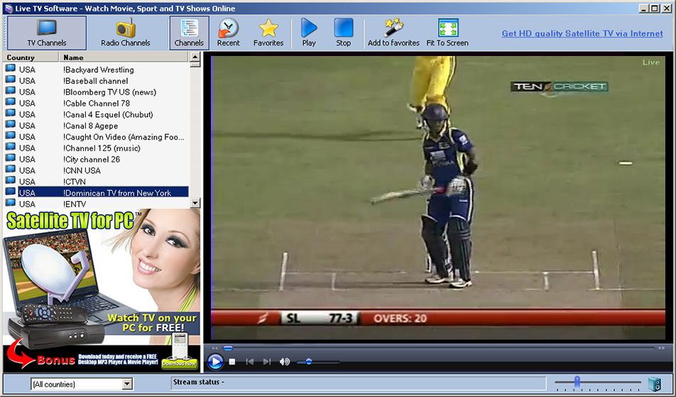 cricket live tv online
