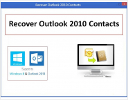 Recover Outlook 2010 Contacts