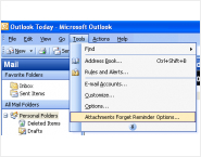 Attachments Forget Reminder for Outlook