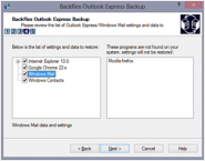 BackRex Outlook Express Backup