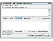 Buy MS Word Extract E-Mail Addresses from Multiple Files and Documents Software