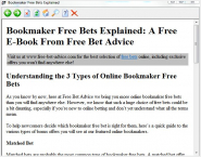 Ebook: Bookmaker Free Bets Explained