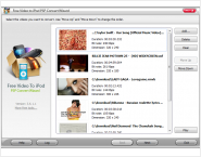 Free Video To iPod PSP Convert Wizard