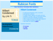 Hilbert Condensed Font Type1