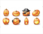 Icons-Land Vista Style Halloween Pumpkin Emoticons