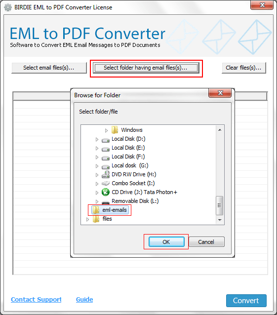 how to open a eml file in windows 7