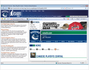 NHL Vancouver Canucks IE Browser Theme
