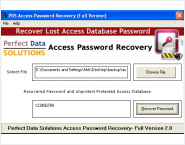 Perfect MDB Password Recovery Tool