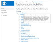 SharePoint Tag Navigation Web Part