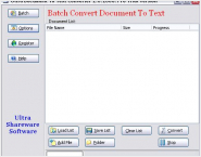 Ultra Document To Text Converter